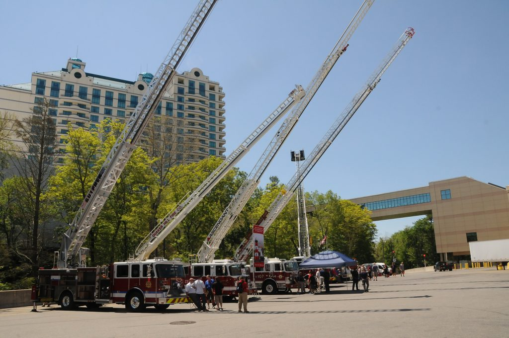 Fire Trucks on Display